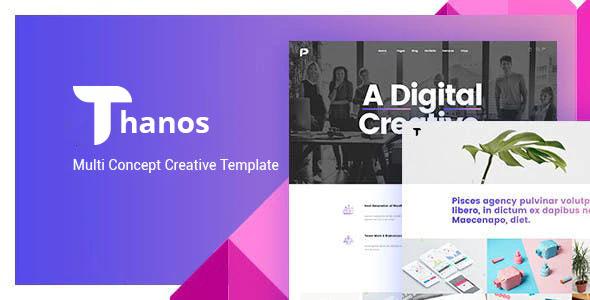 Thanos Creative Bootstrap HTML Template