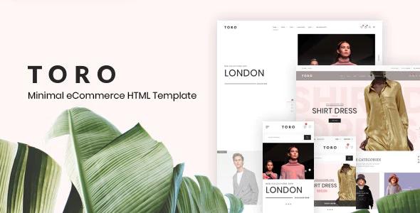 Toro Minimal eCommerce HTML Template