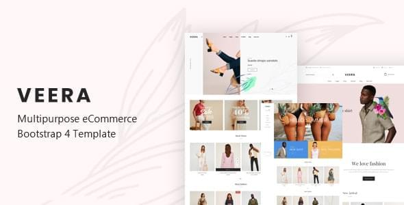 Veera Multipurpose eCommerce Bootstrap 4 Template