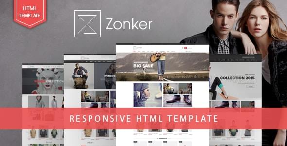 Zonker Fashion eCommerce Bootstrap 4 Template